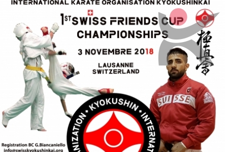 INVITATION 1st SWISS FRIEND'S CUP KARATE KYOKUSHIN à LAUSANNE